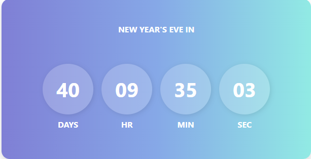 Bootstrap countdown