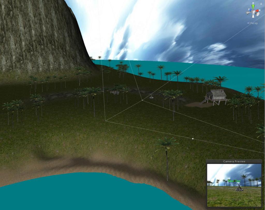 Island VR main scene